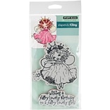 Penny Black Fairy Birthday Cling Stamps, 4 X 5.9 (PB40524)