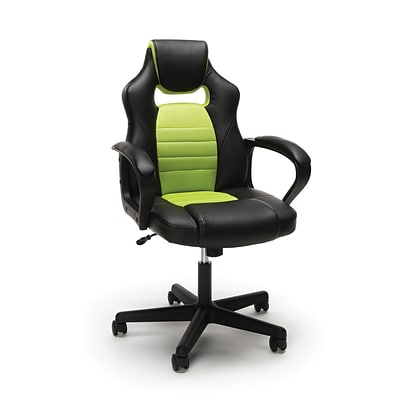 Essentials by OFM Racing Style Gaming Chair, Green (ESS-3083-GRN)