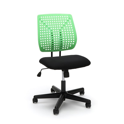 Essentials by OFM Model Plastic Back Task Chair, Black Green (ESS-2050-BLK-GRN)