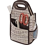 Advantus Tim Holtz Storage Studios Typography Spinning Craft Tote, 7.25 x 7.25 x 15.75 (CH93800)