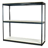 Storage Concepts Bulk Boltless Shelving, 3 Shelves, 72H x 72W x 24D with White Laminated Board (B