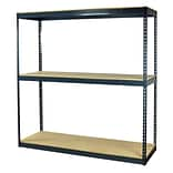 Storage Concepts Office Shelving, Heavy Duty Boltless, 3 Shelves with Particle Board, 84H x 48W x