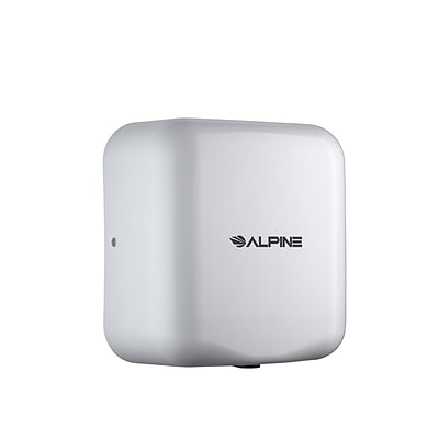 Alpine White Hemlock Heavy Duty Commercial High Speed Hot Air Stainless Steel Automatic Hand Dryer 220-240 Volts (400-20-WHI)