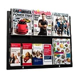 Adiroffice Acrylic Black Wall Mounted Hanging Magazine Rack Newspaper & Brochure Holder 29 X 23