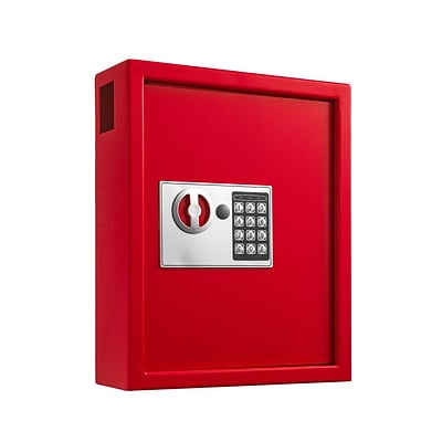 Adiroffice Red Steel 40 Key Cabinet With Digital Lock H 14.3 W 12 D 4 (680-40-RED)