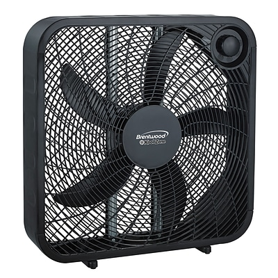 Brentwood 20 Inch Box Fan in Black (F-20SB)