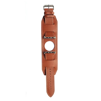Mgear Leather Band For 38mm Apple Watch In Brown (93599784m)