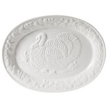 Gibson Home Turkey Oval Platter in White (2011.01)