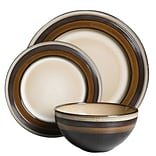 Gibson Everston 12 pc Dinnerware Set - Brown, Stoneware (116856.12)