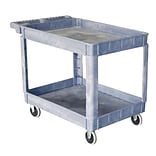 Storage Concepts Plastic Service Cart, 2 Shelves, 32H x 30W x 16D Gray (SCP1630)