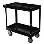 Storage Concepts Service Cart, 2 Shelves, 32H x 30W x 16D Gray Powder Coated Finish (SCK1630)