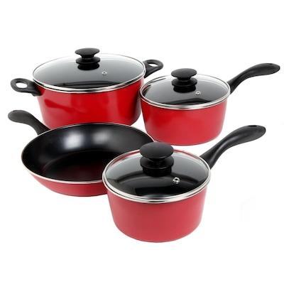 Sunbeam Armington 7 Piece Red Cookware Set (93586662m)