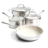 Gibson Cusine Gleaming 7-Piece Silver Cookware Set (935100948M)
