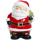 Gibson Home Jovial St. Nick 7.5 Santa Cookie Jar - Hand Painted – Stoneware (113253.01)