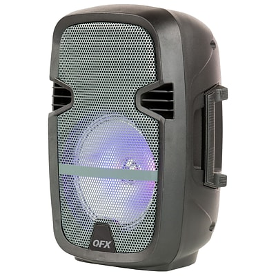 Quantum Fx 8 Battery Powered Portable Party Speaker With Bluetooth/FM Radio/USB/TF and RGB Lights, Gray (93599730M)