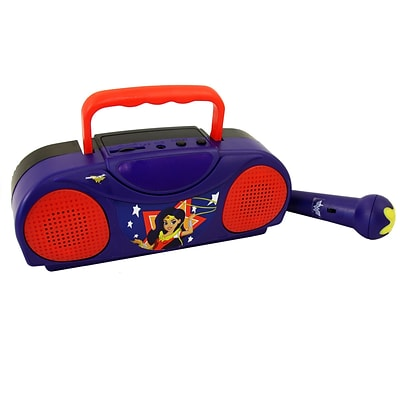 Dc Comics Super Hero Girls Portable Radio Karaoke Kit With Microphone (935100459M)