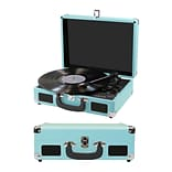 Craig 3-in-1 Turntable Attache Case System with Bluetooth, Teal (935101555M)