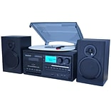 Boytone 28-Series Black Classic Bluetooth Turntable System (BT-28SPB)