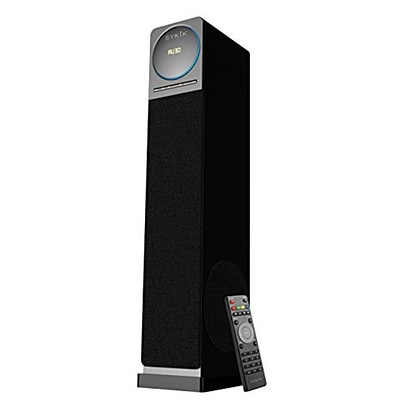 Sykik Tower High Power 60W RMS Speaker with Bluetooth, Black (TSME26BT-BLK)