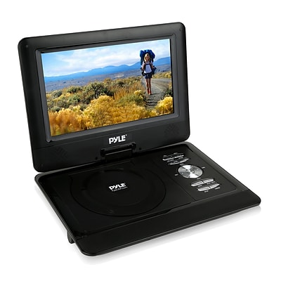 Pyle Home 10 Portable CD/DVD Player, HD Widescreen Display, Built-in Rechargeable Battery, USB/SD Card Memory (93599055M)
