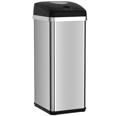 halo™  13 Gallon Touchless Trash Compactor Automatic Trash Can, Stainless Steel Sensor Kitchen Trash Can with Deodorizer (CP13P)