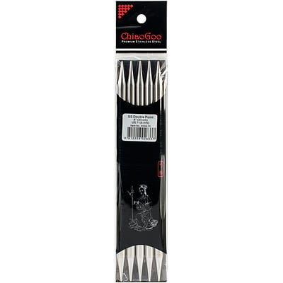 ChiaoGoo Size 11/8mm Double Point Stainless Steel Knitting Needles 8, 5/Pkg (6008W-11)