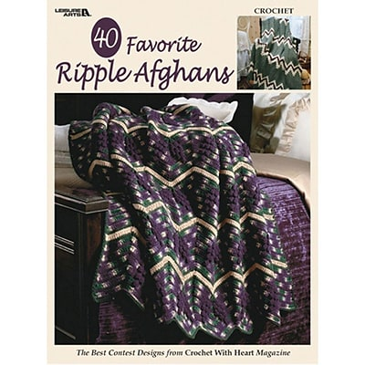Leisure Arts 40 Favorite Ripple Afghans (LA-3338)