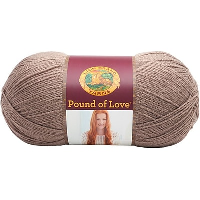 Lion Brand Taupe Pound Of Love Baby Yarn (550-125)