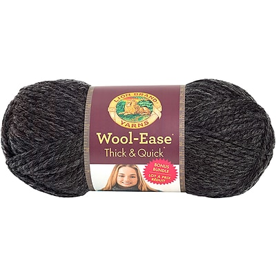 Lion Brand Charcoal Wool-Ease Thick & Quick Bonus Bundle Yarn (641-149)