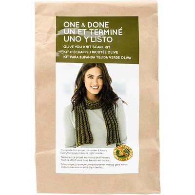 Lion Brand Olive You Knit Scarf One & Done Yarn Kit (606-174)