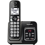 Panasonic KX-TGD530M Expandable Cordless Telephone with Call Block and Answering Machine, Black