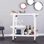 Southern Enterprises Holly & Martin Zhori Midcentury Modern Bar Cart, White (HZ2032)