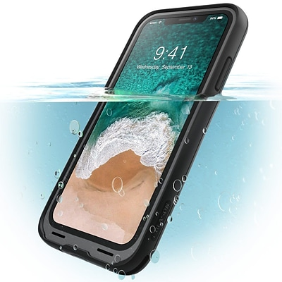 I-Blason Halo Series Clear Case for Apple IPhone X, Clear/Black (IPHX-HALO-C/BK)