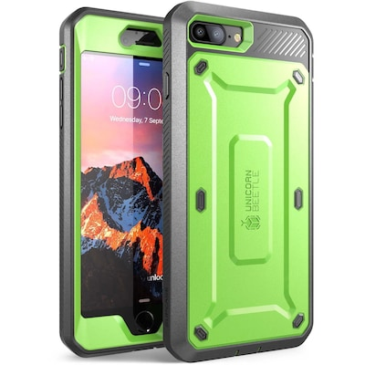 SUPCASE Unicorn Beetle Pro for the iPhone 8 Plus, Green/Gray (S-IPH8PUBPRGNGY)