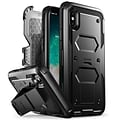 I-Blason Armorbox Heavy Duty Case for Apple iPhone X, Black (IPHX-ARMRBX-BE)