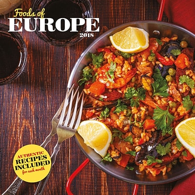 2018 Turner Photographic 12x12 Foods of Europe Wall Calendar (18998940066)