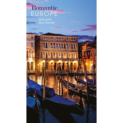 2018 Turner Photographic 3-1/2 x 6-3/8, Romantic Europe Two Year Planner (18998960014)