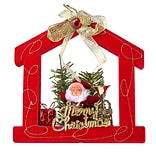Red Santa Claus House Christmas Ornament Merry Christmas (ORNSAC201)