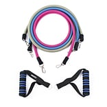 INNOKA Multi-Functional Adjustable Resistance Tube Band Set Anti-Snap for Exercise Fitness Yoga Work