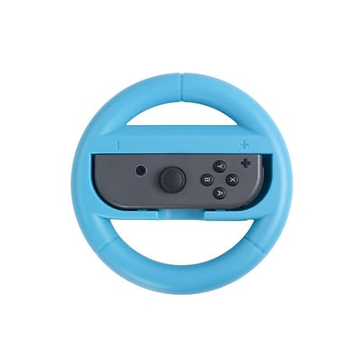 Insten For Nintendo Switch Joy-Con Protective Racing Steering Wheel Controller Wear Resistant Handle Grip - Blue