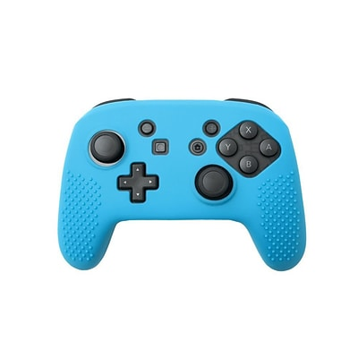 Insten Soft Silicone Protective Case Cover Skin For Nintendo Switch Pro Controller Grip - Blue