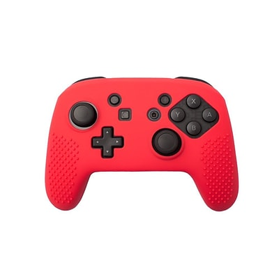 Insten Soft Silicone Protective Case Cover Skin For Nintendo Switch Pro Controller Grip - Red