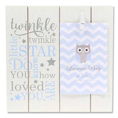 Lawrence Frames 4W x 6H Distressed White and Blue Wood Frame - Twinkle Twinkle (377146)