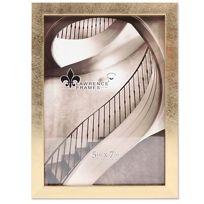 Lawrence Frames 5W x 7H Chloe Contemporary Gold Picture Frame (708057)