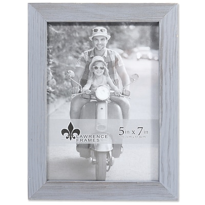 Lawrence Frames 5W x 7H Charlotte Weathered Gray Wood Picture Frame (745657)