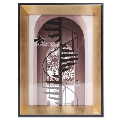 Lawrence Frames 5W x 7H Vanessa Contemporary Gold and Black Picture Frame (708157)