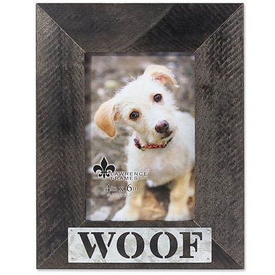 Lawrence Frames 4W x 6H Harper Wood Picture Frame with Galvanized Metal Piercing - Woof (709446)