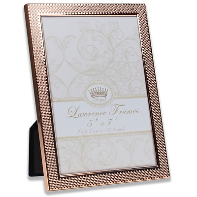 Lawrence Frames 5W x 7H Fawn Pin Dot Pattern Copper Picture Frame (702557)
