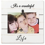 Lawrence Frames 4W x 6H Weathered White Woodlands Clip Picture Frame - Wonderful Life (742264)