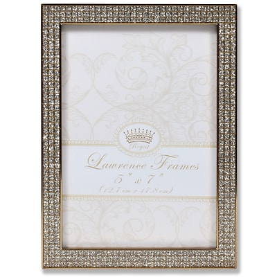 Lawrence Frames 5W x 7H Turner Gold and Glitter Metal Picture Frame (702457)